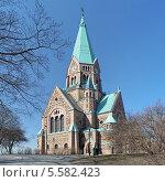 Купить «Церковь Софии в Стокгольме, Швеция», фото № 5582423, снято 10 апреля 2011 г. (c) Михаил Марковский / Фотобанк Лори