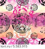 """Купить «Розовый гранж шаблон в стиле """"тай дай""""», иллюстрация № 5583915 (c) Касьянова Татьяна / Фотобанк Лори"""