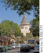Купить «Вид на базилику Благовещения в Назарете, Израиль», фото № 5592171, снято 6 октября 2012 г. (c) Ирина Борсученко / Фотобанк Лори