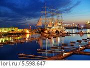 Купить «Четырехмачтовый барк Крузенштерн в порту Сочи», фото № 5598647, снято 14 февраля 2014 г. (c) Stockphoto / Фотобанк Лори