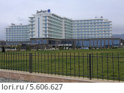 Купить «Гостиница Radisson Blu Resort, Aдлер», эксклюзивное фото № 5606627, снято 16 февраля 2014 г. (c) Алексей Гусев / Фотобанк Лори