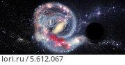 Купить «Черная дыра в космическом пространстве», иллюстрация № 5612067 (c) Наталья Спиридонова / Фотобанк Лори