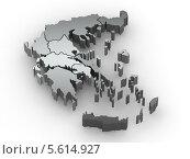 Купить «Трехмерная карта Греции», иллюстрация № 5614927 (c) Maksym Yemelyanov / Фотобанк Лори