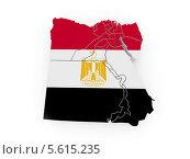 Купить «Карта Египта с египетским флагом», иллюстрация № 5615235 (c) Maksym Yemelyanov / Фотобанк Лори