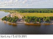 Купить «Вид на озеро Селигер с высоты», эксклюзивное фото № 5619991, снято 29 июля 2011 г. (c) Елена Коромыслова / Фотобанк Лори