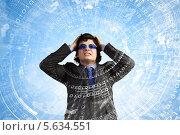 Ярость и агрессия. Портрет бизнесмена в защитных очках с искаженным лицом. Стоковое фото, фотограф Sergey Nivens / Фотобанк Лори