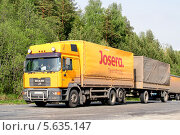 Купить «Грузовик MAN F2000», фото № 5635147, снято 24 мая 2008 г. (c) Art Konovalov / Фотобанк Лори