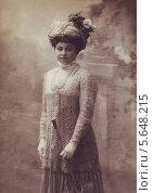 Старинный портрет девушки в шляпке и с зонтом. Стоковое фото, фотограф Савицкая Татьяна Сергеевна / Фотобанк Лори