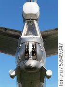 Купить «Международный авиационно-космический салон МАКС-2013. Скорострельная пушка в хвосте стратегического бомбардировщика Ту-95», фото № 5649047, снято 26 августа 2013 г. (c) Игорь Долгов / Фотобанк Лори