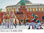 Купить «Детский танцевальный коллектив выступает на Красной площади», фото № 5649359, снято 27 мая 2012 г. (c) Losevsky Pavel / Фотобанк Лори