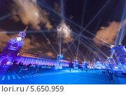 Купить «Ночное световое шоу на Красной площади в Москве», фото № 5650959, снято 21 октября 2011 г. (c) Losevsky Pavel / Фотобанк Лори