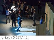 Победители премии Бренд года EFFIE 2011 года дают интервью. 12 апреля 2012 года, Москва. Редакционное фото, фотограф Losevsky Pavel / Фотобанк Лори
