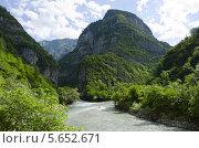 Горная река Бзыбь, Абхазия. Стоковое фото, фотограф Сергей / Фотобанк Лори
