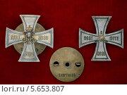 Купить «Знак нагрудный гвардейского флотского экипажа до 1917 года», фото № 5653807, снято 7 июля 2007 г. (c) Анна Воронова / Фотобанк Лори