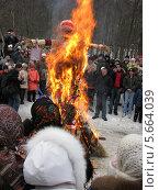 Сжигание масленицы (2008 год). Редакционное фото, фотограф Светлана Островская / Фотобанк Лори