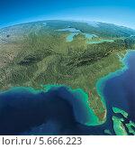 Вид из космоса на Мексиканский залив и Флориду. Стоковая иллюстрация, иллюстратор Антон Балаж / Фотобанк Лори