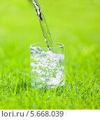 Вода, льющаяся в стакан. Стоковое фото, фотограф Гладских Татьяна / Фотобанк Лори
