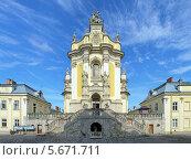 Купить «Собор Святого Юра во Львове, Украина», фото № 5671711, снято 8 июля 2010 г. (c) Михаил Марковский / Фотобанк Лори
