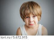 Купить «Печальный мальчик», фото № 5672915, снято 3 марта 2014 г. (c) Anelina / Фотобанк Лори