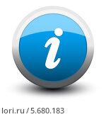 Купить «Голубая круглая иконка с символом info», иллюстрация № 5680183 (c) Александр Калугин / Фотобанк Лори