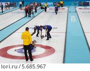 Купить «Керлинг. Сочи. Олимпийские игры 2014», фото № 5685967, снято 22 февраля 2014 г. (c) Корчагина Полина / Фотобанк Лори