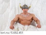 Купить «Снежный викинг», фото № 5692451, снято 3 октября 2013 г. (c) Losevsky Pavel / Фотобанк Лори