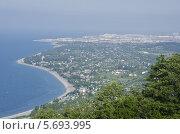 Вид с горы на Адлер и Цандрипш Абхазия. Стоковое фото, фотограф Сергей / Фотобанк Лори