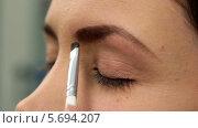 Купить «Стилист подкрашивает брови молодой женщине», видеоролик № 5694207, снято 10 февраля 2014 г. (c) Иван Артемов / Фотобанк Лори