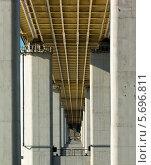 Купить «Метромост (вид снизу)», фото № 5696811, снято 26 февраля 2014 г. (c) Наталья Гнелицкая / Фотобанк Лори