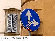 Смешной дорожный знак. Флоренция. Стоковое фото, фотограф Алла Вовнянко / Фотобанк Лори