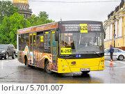 Купить «Автобус МАЗ-206, Санкт-Петербург, Россия», фото № 5701007, снято 26 мая 2013 г. (c) Art Konovalov / Фотобанк Лори