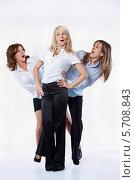 Веселые женщины в деловой одежде. Стоковое фото, фотограф Daniil Nikiforov / Фотобанк Лори