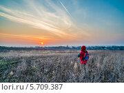 Восход над Усть-Узой, фото № 5709387, снято 20 апреля 2013 г. (c) Андрей Малышкин / Фотобанк Лори