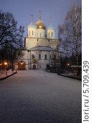 Купить «Москва, Новоспасский монастырь», эксклюзивное фото № 5709439, снято 4 марта 2014 г. (c) Дмитрий Неумоин / Фотобанк Лори