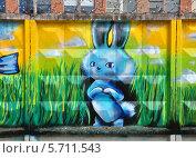 Купить «Граффити зайца - талисмана Олимпиады в Сочи 2014», фото № 5711543, снято 21 июня 2013 г. (c) Голованов Сергей / Фотобанк Лори
