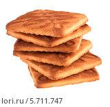 Купить «Печенье на белом фоне», фото № 5711747, снято 5 октября 2013 г. (c) Литвяк Игорь / Фотобанк Лори