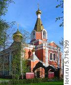 Купить «Церковь Воскресения Христова на бывшем Семеновском кладбище в Москве», эксклюзивное фото № 5716799, снято 2 мая 2012 г. (c) lana1501 / Фотобанк Лори