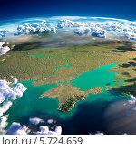 Купить «Фрагменты планеты Земля. Черное море и Крым», иллюстрация № 5724659 (c) Антон Балаж / Фотобанк Лори