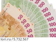 Веер из купюр евро. Стоковое фото, фотограф Rumo / Фотобанк Лори