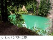 Зеленое озеро Морской глаз. Стоковое фото, фотограф Сергей Канашин / Фотобанк Лори