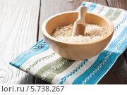 Рис в деревянной чаше. Стоковое фото, фотограф Ирина Буракова / Фотобанк Лори