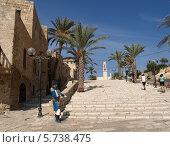 Купить «Лестница в старом Яффо, Израиль», фото № 5738475, снято 4 октября 2012 г. (c) Ирина Борсученко / Фотобанк Лори