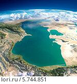 Купить «Планета Земля. Каспийское море», иллюстрация № 5744851 (c) Антон Балаж / Фотобанк Лори