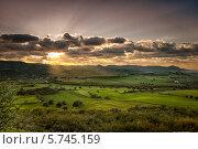 Купить «Поля и горы Кипра на закате», фото № 5745159, снято 16 августа 2018 г. (c) Darja Vorontsova / Фотобанк Лори