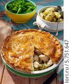Купить «домашний пирог с курицей и луком», фото № 5751647, снято 17 января 2019 г. (c) Food And Drink Photos / Фотобанк Лори