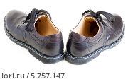 Купить «Кожаные мужские ботинки», фото № 5757147, снято 25 марта 2014 г. (c) Сергей Дубров / Фотобанк Лори