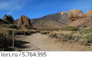 Купить «Скалы де Гарсия, Тенерифе, национальный парк Тейде», видеоролик № 5764995, снято 24 декабря 2013 г. (c) Roman Likhov / Фотобанк Лори