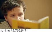 Купить «Мальчик читает книгу», видеоролик № 5766947, снято 15 марта 2014 г. (c) Данил Руденко / Фотобанк Лори