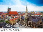 Купить «Новая Ратуша в Мюнхене, Германия», фото № 5768991, снято 11 июня 2013 г. (c) Сергей Новиков / Фотобанк Лори