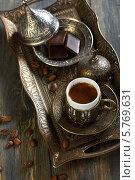 Купить «Турецкий кофе», фото № 5769631, снято 31 марта 2014 г. (c) Марина Сапрунова / Фотобанк Лори